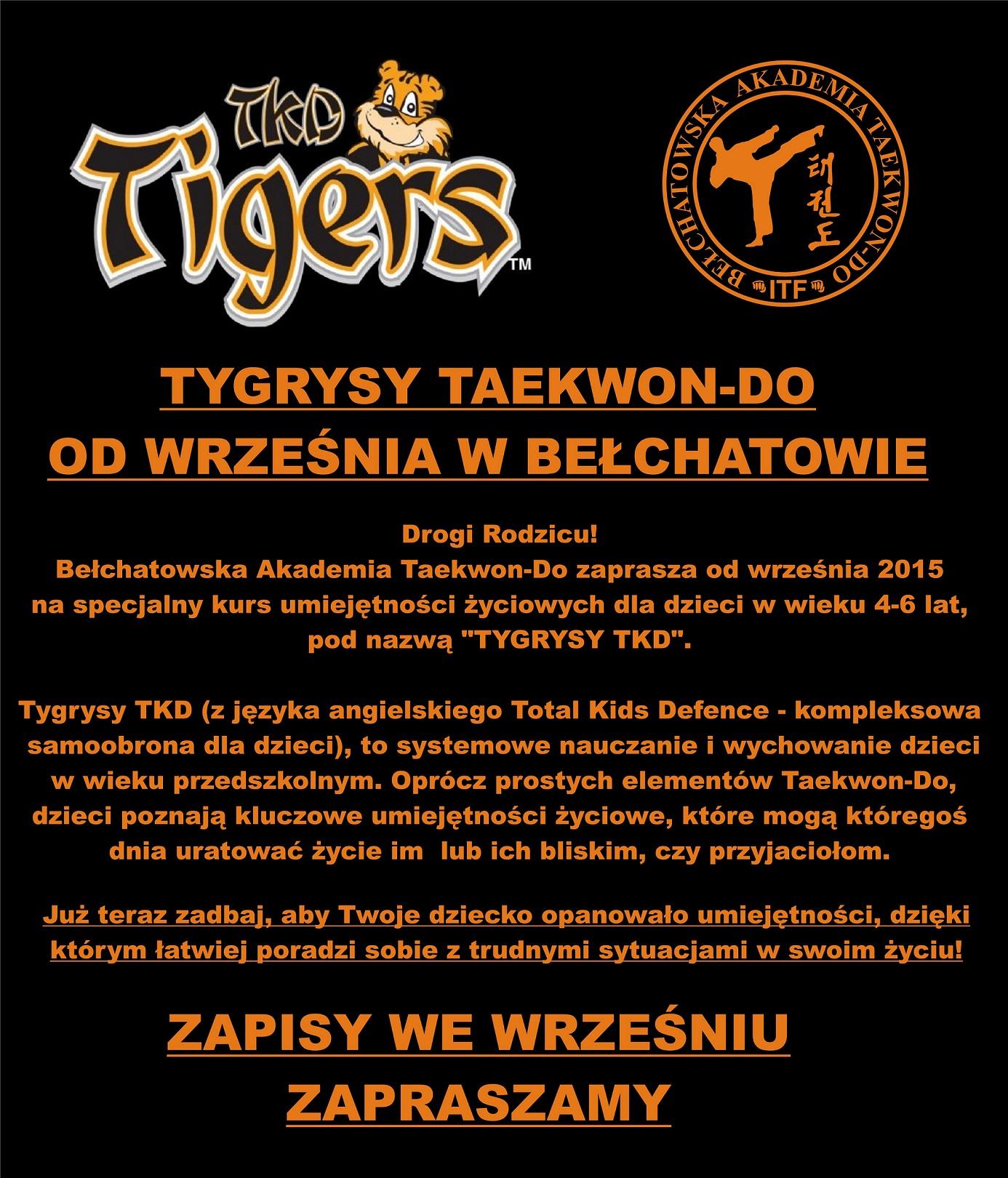 TKD TIGERS -info 1