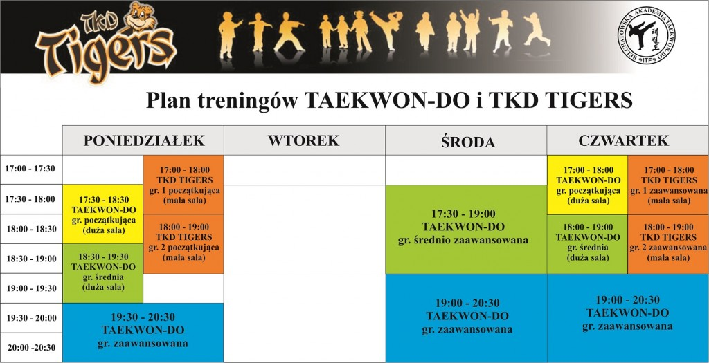 PLAN TRENINGÓW TAEKWON-DO 2017-2018
