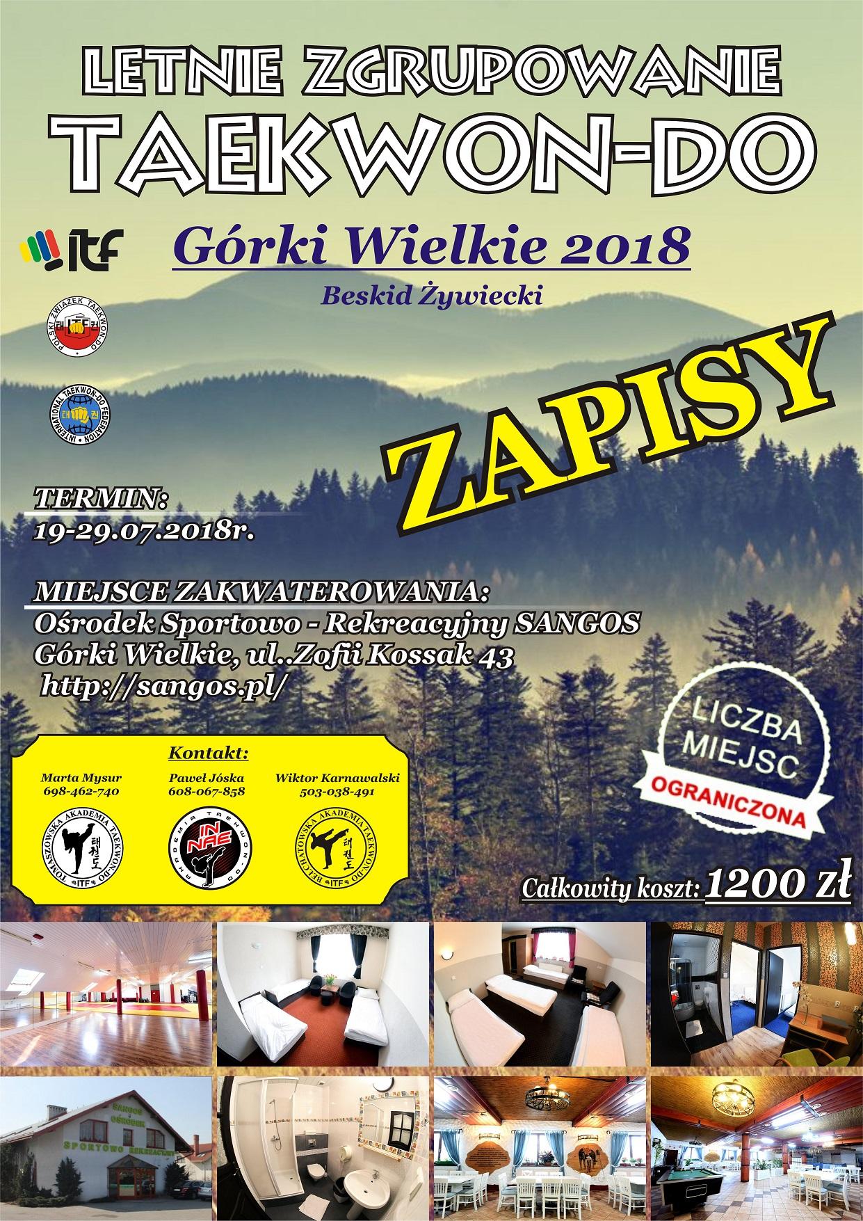 Obóz TKD- plakat 2018