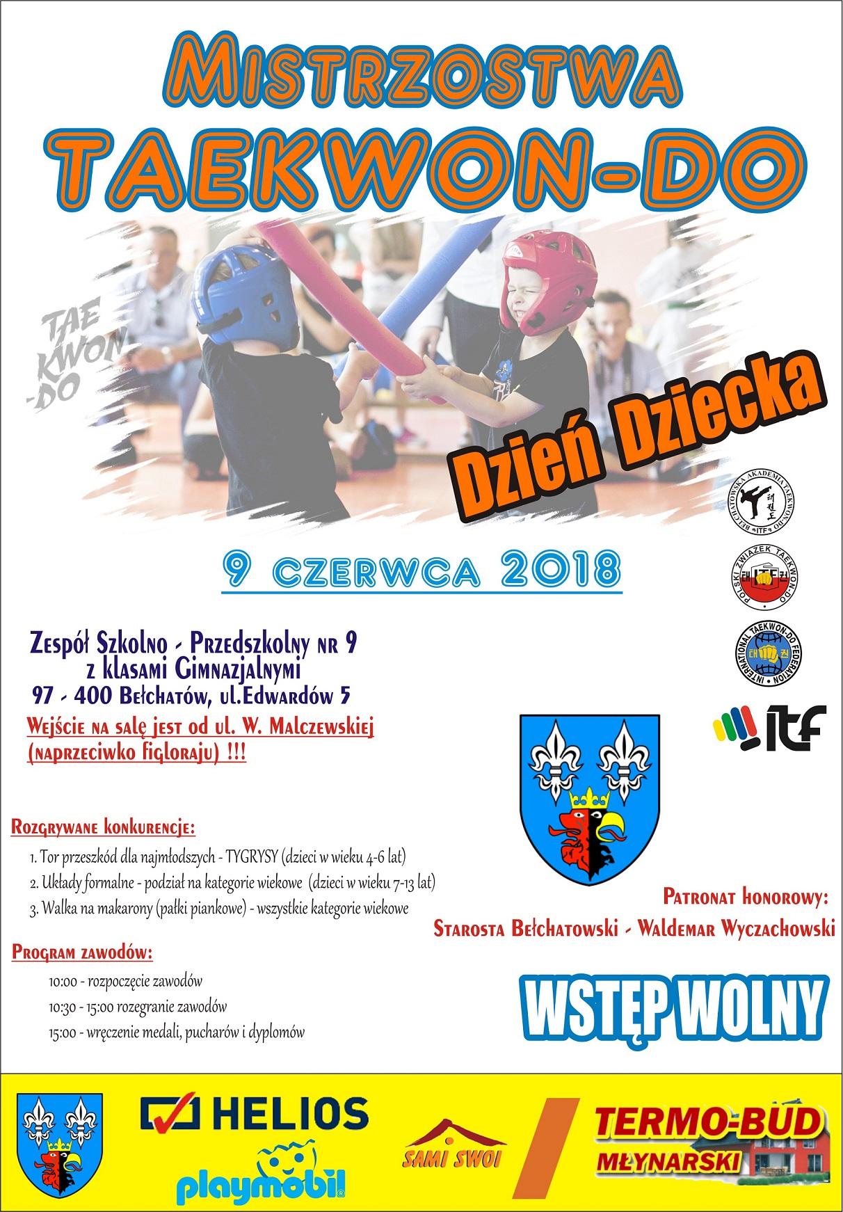 Mistrzostwa TKD - PLAKAT 2018
