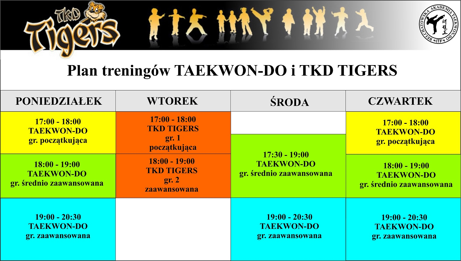 PLAN TRENINGÓW TAEKWON-DO 2018-2019